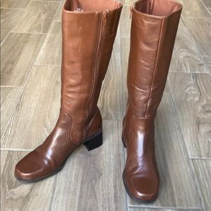 Naturalizer Brown Chocolate Leather Side_Zip Boots